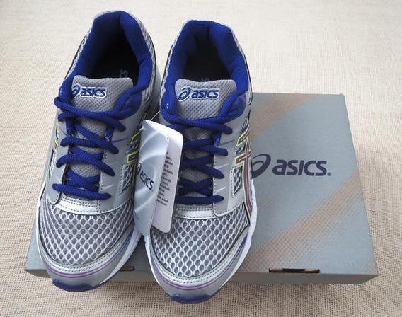Tenis Asics Buzz 2 Gs Original Cinza E Azul Tam. 35 - Novo