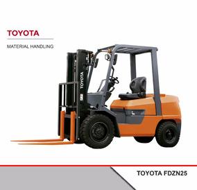 Venta Autoelevador Diesel Toyota Fdzn25 0 Hs
