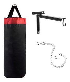 Bolsa De Box 1 Mt Sol Fitness + Cadena + Soporte Pared Boxeo