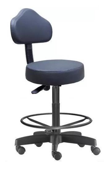 Cadeira Mocho Alto Preto Estética Com Apoia Pés Campinas Sp