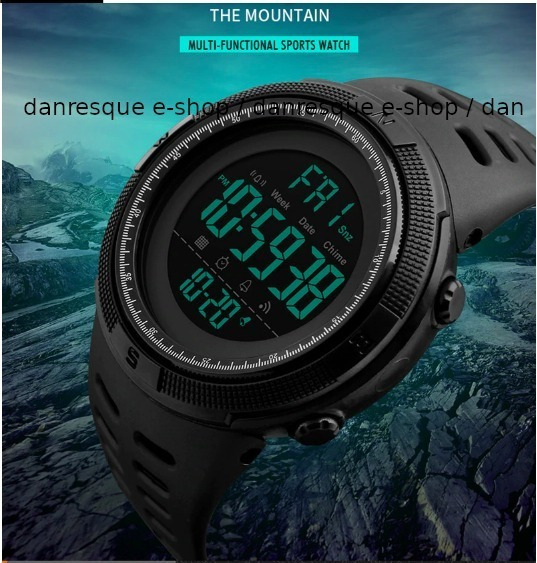 Relógio Black Skmei Japonês 1251 Provadágua 50m