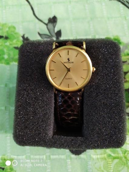 Relógio Seculus Em Ouro 750