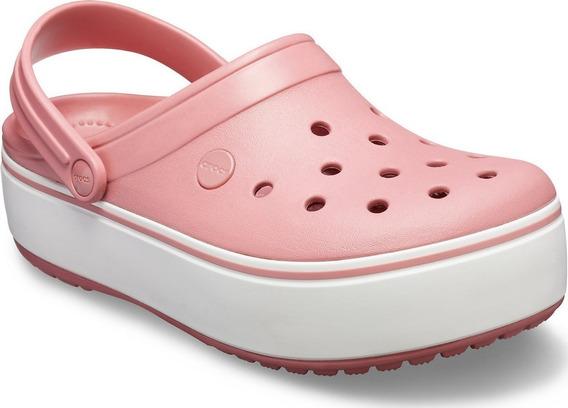 Crocs Crocband Clog Plataforma Rosa Gastado
