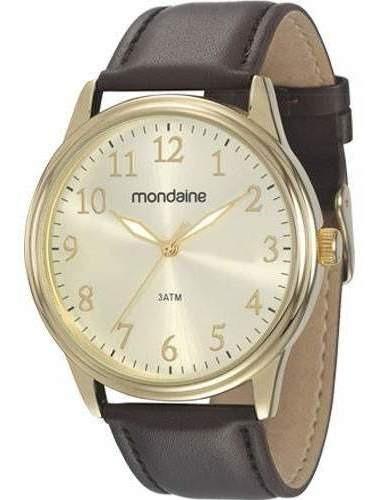 Relógio Mondaine Masculino Couro 83284gpmvdh2