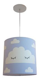 Lustre Luminária Nuvens Com Olhinho Quarto Infantil