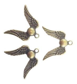 10 Pingentes Medalha Pomo De Ouro 3cm Mitologia Harry Potter