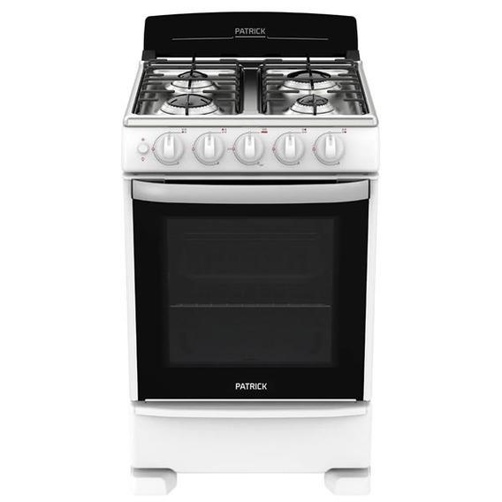 Cocina A Gas Patrick Cp6855b Blanco 4 Hornalla 55cm Tio Musa