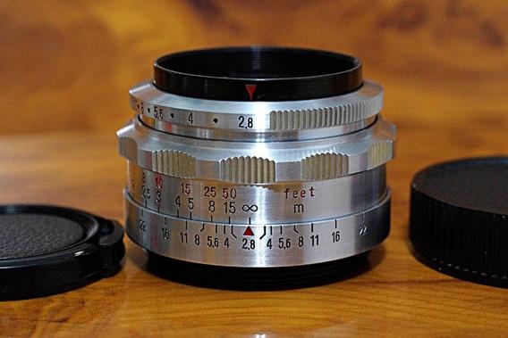 Carl Zeiss Jena Tessar 50mm 2,8 M42 - 12 Lâminas -linda