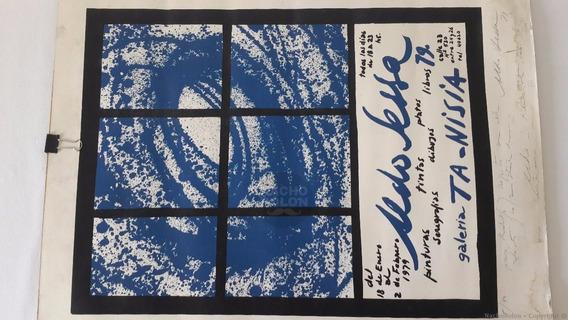 1979 Aldo Sessa Serigrafía 5/40 Firmado Fotógrafo Dedicado