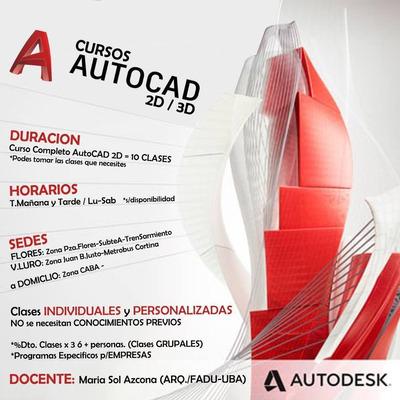 Clases Autocad 2d/3d - (opc: A Domicilio)