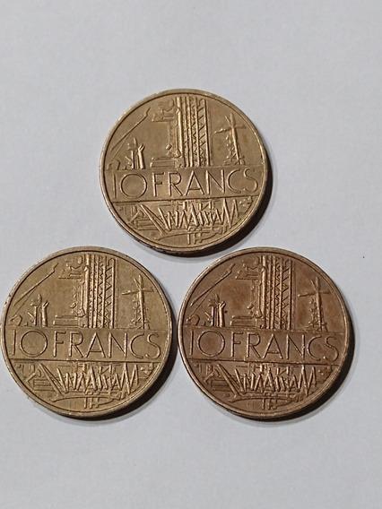 Lote Monedas 10 Francos Año 1976-79