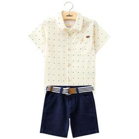 Conjunto Infantil Masculino Amarelo Camisa Milon