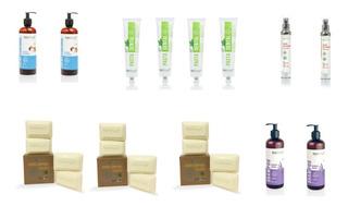 Kit Natural Organico Pasta Dental Shampoo Crema Suero Jabon