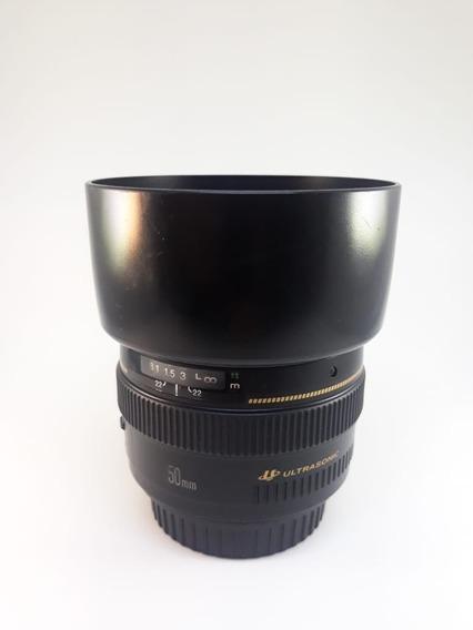 Lente Canon Ultrasonic Ef 50mm F1.4 Usada