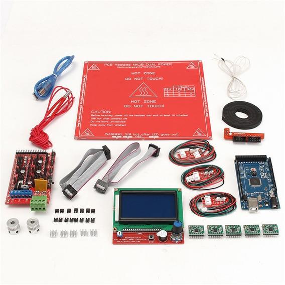Kit Prusa I3 Ramps 1.4 Mega 2560 Polia Gt2 Display Endstop