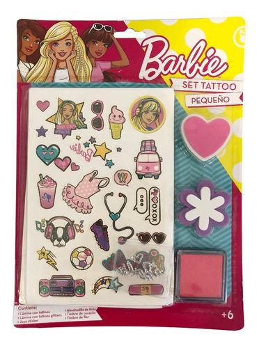 Set Tatuajes Barbie 10 Unidades  (4009)
