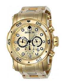 Relógio Invicta Pro Diver 0074 - Dourado Masculino