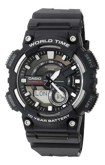 Relógio Casio World Time Aeq-110w-1avcf Original