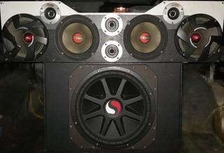 Sonido De Carro Medios Pioneer Lanzar Bajo Kicker 15