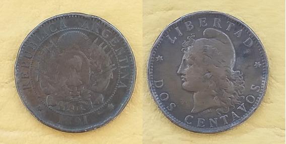 Moneda 2 Centavos 1891 Argentina. Eb