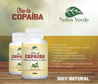 Kit 4 Potes Óleo De Copaíba 100 Cápsulas Total 400 Cápsulas