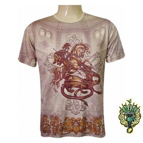 Camiseta São Jorge Templo Ogum 100% Viscose