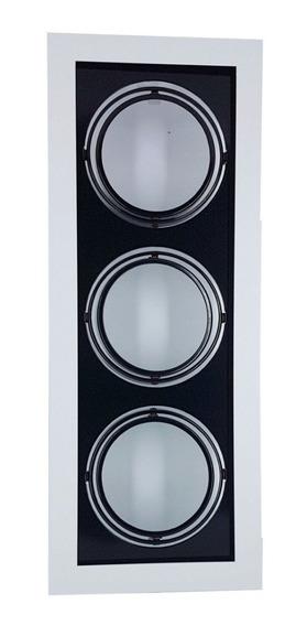 Plafon Spot Embutir P/3 Lâmpadas Ar111 Br/pt - Vr 4403/3