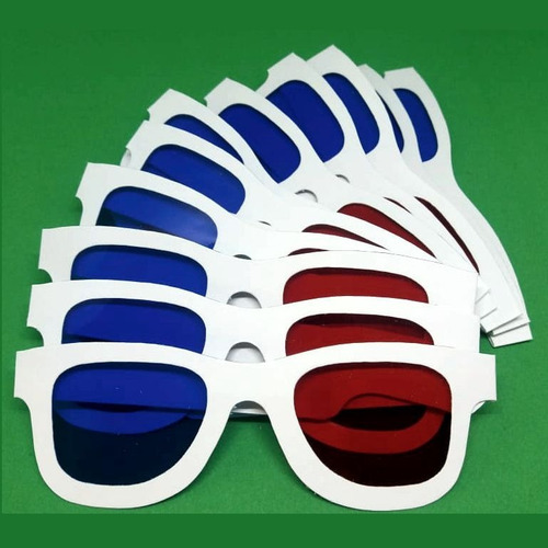 Imagem 1 de 3 de 12 Oculos3d Red/cyan Style - Fabricado No Brasil - 100% Hd