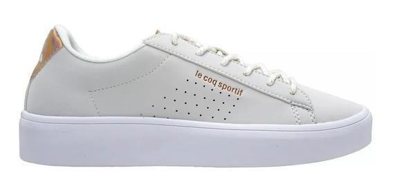 Zapatillas Mujer Le Coq Sportif Agate Hi Smooth Cuero Blanco