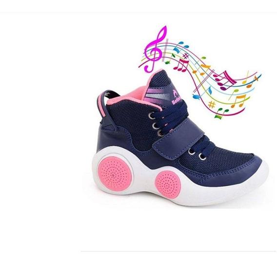 Tênis Musical Botinho Infantil Tênis Com Som Bluetooth
