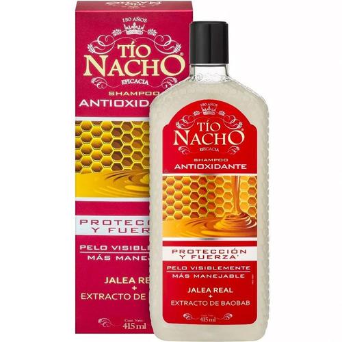 Imagen 1 de 1 de Shampoo Tio Nacho  415ml Antioxidante