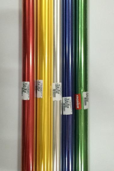Papel Celofane Incolor 70x89 Cromus C/ 12 Rolo C/ 50 Folhas.