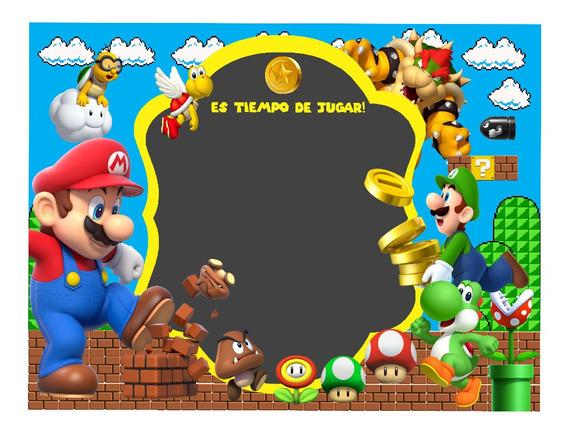 Invitacion Editable Mario Bros 01