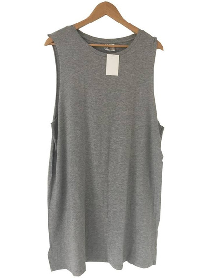 Musculosa Remerón Larga Gris Melange Side Bood Divided H & M