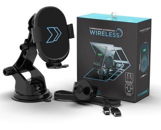 Suporte Carregador Wireless Veicular S8 S9 Note iPhone Carro