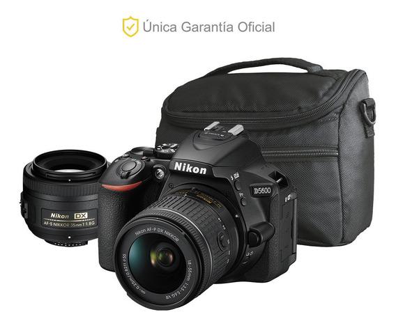 Nikon Oficial D5600 18-55 Vr, 35 F/1.8 Y Bolso