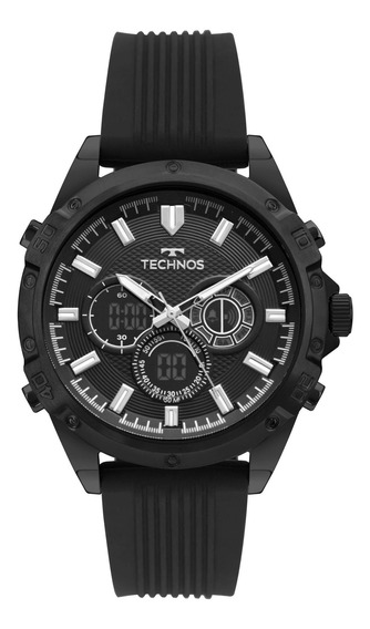 Relógio Technos Masculino Preto - Bj3814ac/8p Garantia 1 Ano