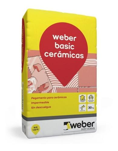 Pegamento Cerámicas Weber Basic 30 K Pared Piso Interior Mm
