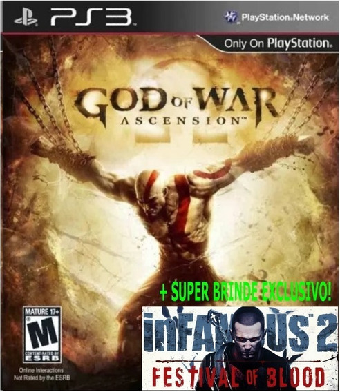 God Of War Ascension Ps3 Dublado +brinde Infamous Blood