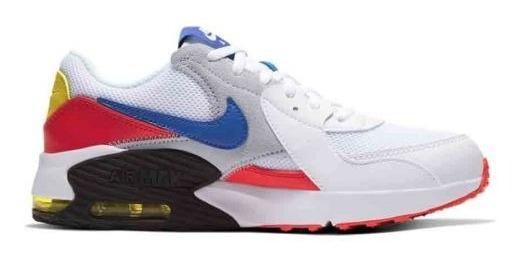 Tenis Casual Nike Air Max Excee Gs 4101 Blanco Niño