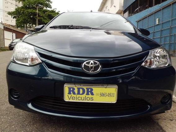 Toyota Etios 1.5 Xs 5p Azul 2016 Completo Único Dono