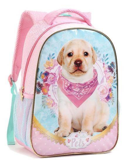 Mochila Infantil Feminina Escolar Menina Pets Original Novo