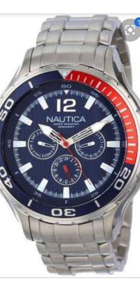 Relógio Nautica Pulseira Em Aço