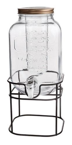 Dispensador Jarra Mason Jar Con Tapa E Infusor