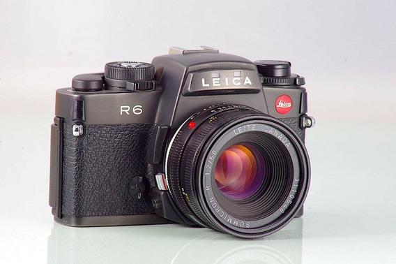 Leica R6 Schwarz Made In Germany+summicron-r 2/50