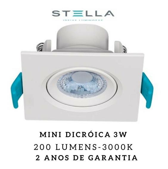 10x Embutido Led Easy Stella Mini Dicróica 3w Sth7910 Mr11