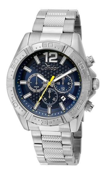 Relógio Condor Masculino Cronografo Covd33aq/3a Azul