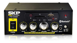 Amplificador Usb Mp3 Bt Skp Radio Fm 220 Y 12v 45w