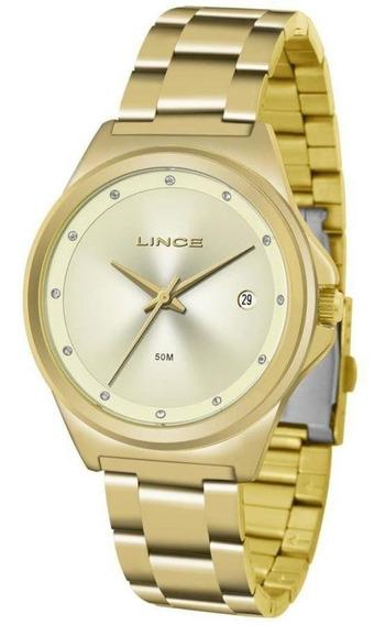 Relógio Lince Dourado Feminino Analógico Lrg4567l C1kx