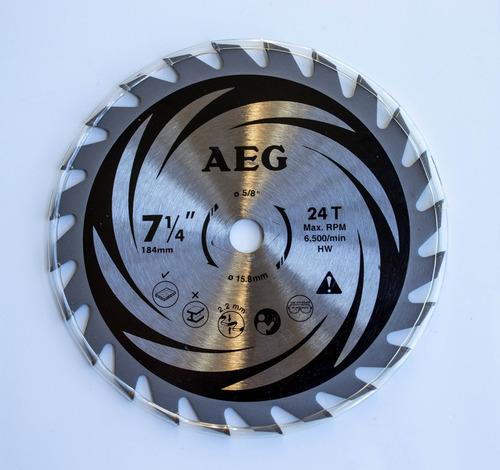 Disco Para Sierra Circular 7-1/4 (184mm) 24 Dientes C/madera